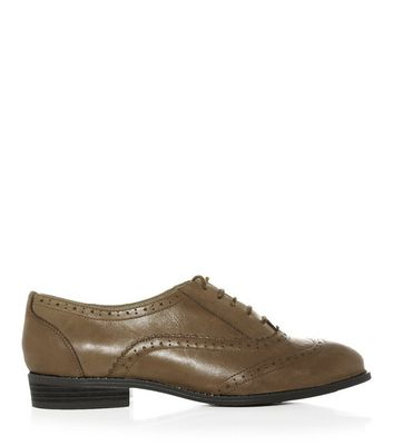 Tan Leather Lace Up Brogues