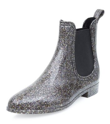 Silver Chelsea Wellies