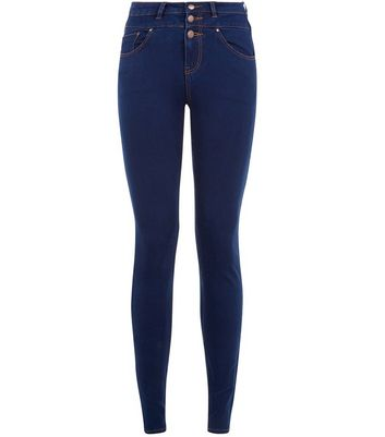 Dark Blue High Waist Super Skinny Jeans