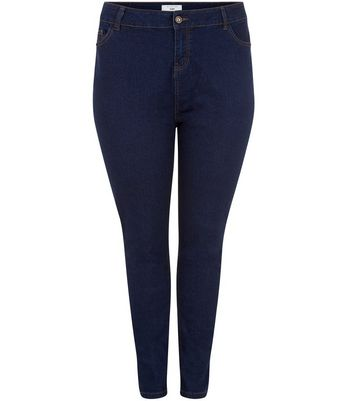 Curves – Marineblaue Skinny-Jeans