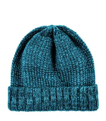 Teal Twist Knit Beanie