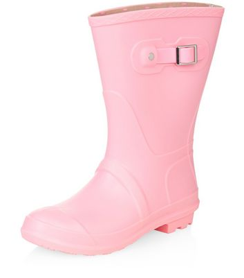 Pink Calf High Wellies