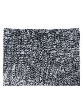 Dark Grey Knitted Ribbed Scarf