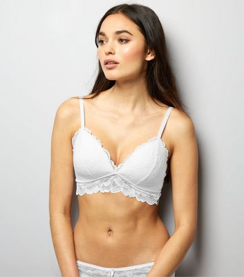 White Moulded Lace Bralet