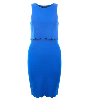 Womens Scallop Layer Dress New Look Enjoy Cheap Price Free Shipping Wiki EQToCMHt