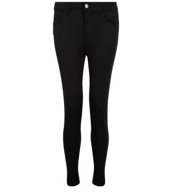 Petite 28in Black Supersoft Super Skinny Jeans