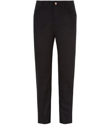 Curves Black Straight Leg Jeans