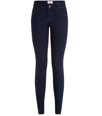 Tall Dark Blue Skinny Ankle Grazer Jeans