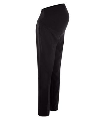 Maternity Black Over Bump Stretch Trousers