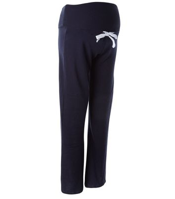 Maternity Navy Wide Leg Joggers