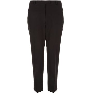Blacked Cropped Slim Leg Trousers