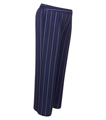 Maternity Blue Stripe Under Bump Wide Leg Trousers