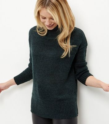 Dark Green Turtle Neck Jumper