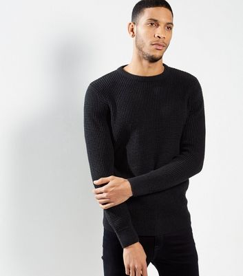 Navy Textured Jumper