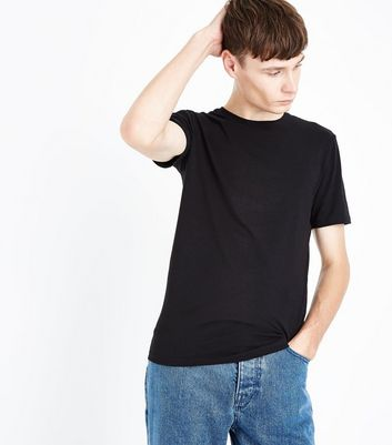 Black Cotton Stretch T-Shirt