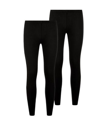 Lot de 2 leggings ado noirs