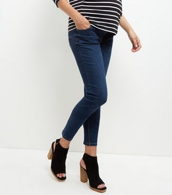 Maternity Navy Under Bump Skinny Jeans