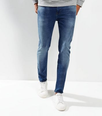 Bright Blue Washed Skinny Jeans