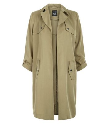 Teens Lyocell Roll Sleeve Trench Coat