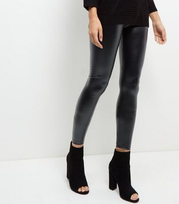 JDY Black Coated Leggings