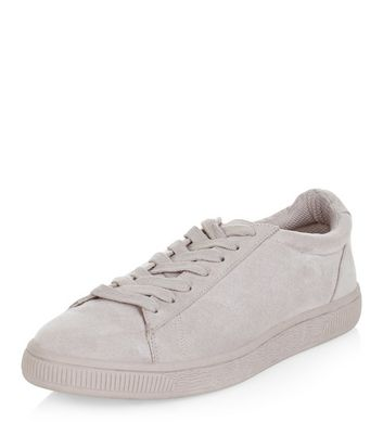 Grey Suedette Trainers