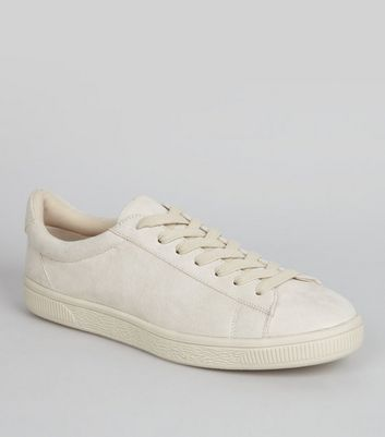 Cream Suedette Trainers