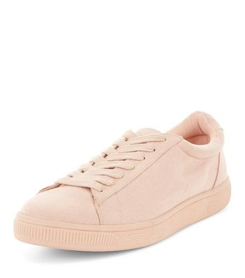 Pink Suedette Trainers