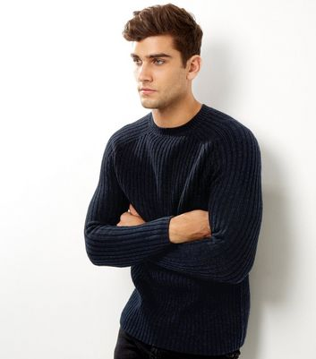 Navy Ribbed Jumper