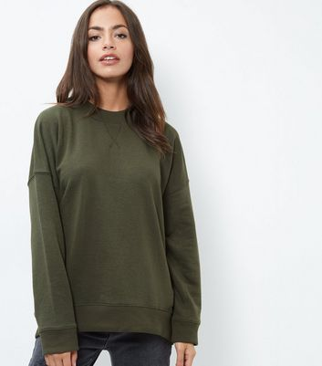 Green Balloon Sleeve Sweater
