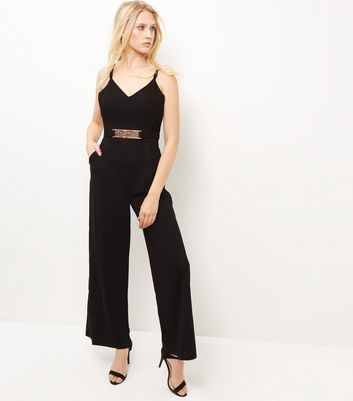 Mela Black Belted Jumpsuit
