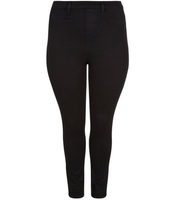 Curves – Schwarze 5-Pocket-Jeggings