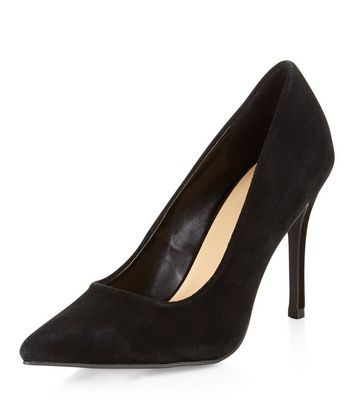 Black Suede Pointed Heels
