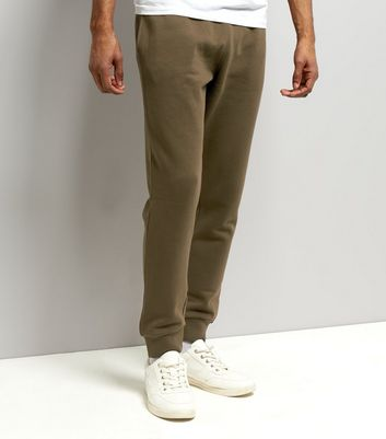 Khaki Basic-Jogginghosen