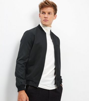 Black Tailored Bomber Jacket
