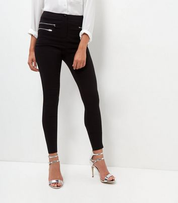 Tall Black Slim Leg Bengaline Trousers