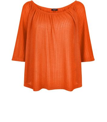 Tall Orange Pointelle Gypsy Top