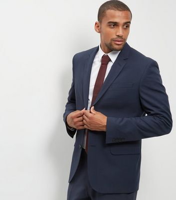 Blue Regular Suit Jacket
