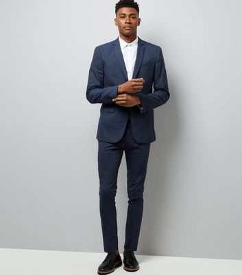 Navy Skinny Suit Trousers