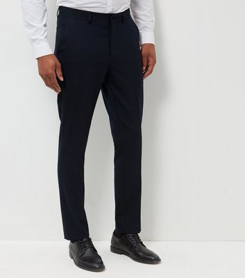Blue Slim Fit Suit Trousers