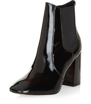 bottines chelsea femme bottines en cuir et daim new look. Black Bedroom Furniture Sets. Home Design Ideas