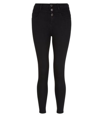 Black high waisted tight jeans