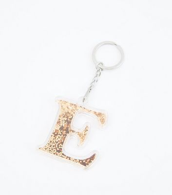 Rose Gold 'E' Keyring