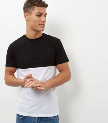 Black Colour Block T-Shirt