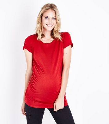 Maternity Red Short Sleeve T-Shirt