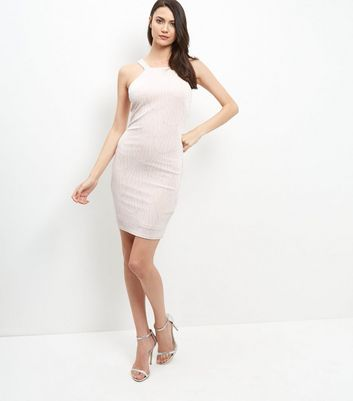 Shell Pink Cut Out Back Bodycon Dress
