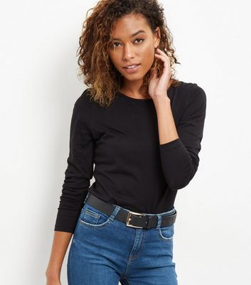 Tall Black Long Sleeve Top