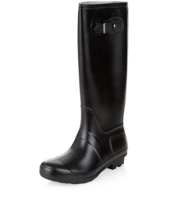 Black Knee High Wellies