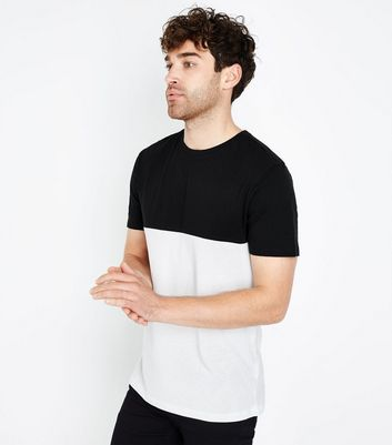 T-shirt noir color block