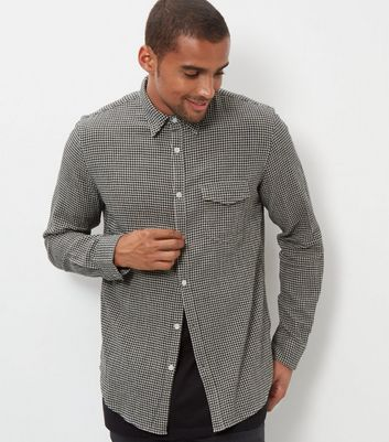 Grey Check Crepe Shirt