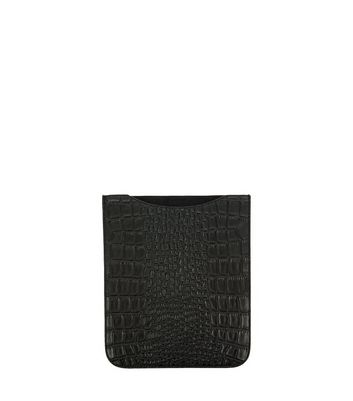Black Croc Texture iPad Sleeve